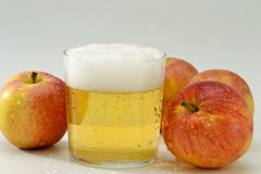 Cold cider. stock images