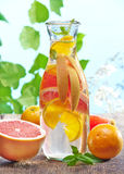 Cold citrus fruit drink Royalty Free Stock Image