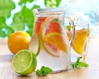 Cold citrus fruit drink Stock Images