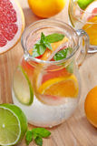 Cold citrus fruit drink Royalty Free Stock Photos