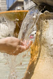 Cold clear water. Fresh cold clear water in a hot day in Rome Stock Image