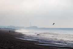 Cold cloudy morning at Brighton sea, United Kingdom Stock Images
