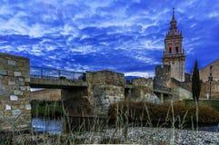 Cathedral of the Burgo de Osma, Soria, Spain. stock photo