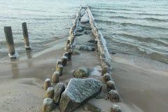 Cold coast. The Baltic Sea coast. 2014 Royalty Free Stock Photos