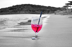Cold cocktail on the beach Andros Cyclades Greece Royalty Free Stock Image
