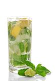 Cold cocktail of Mojito stock photo