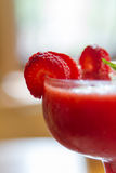 Cold Cocktail with Strawberry Fruit Stock Image