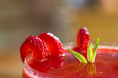 Cold Cocktail with Strawberry Fruit Royalty Free Stock Images