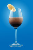 Cold cocoa cocktail with banana Stock Photo