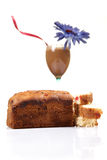 Cold coffee and cake stock photo