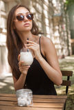 Cold coffee drink. Royalty Free Stock Photo