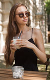 Cold coffee drink. Stock Photos