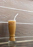 Cold coffee drink with ice Stock Images