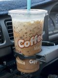 Cold coffee drink with ice Royalty Free Stock Photo