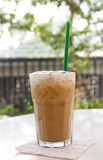 Cold coffee drink with ice. Stock Photo