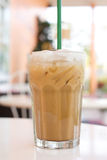 Cold coffee drink with ice. Royalty Free Stock Image