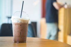 Cold coffee drink with ice Stock Image