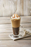 Cold coffee with ice cream Stock Image