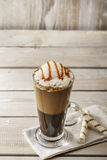 Cold coffee with ice cream Stock Photos