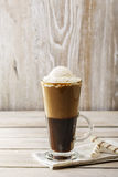 Cold coffee with ice cream Stock Photography