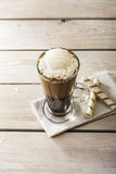 Cold coffee with ice cream Royalty Free Stock Images