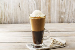 Cold coffee with ice cream Royalty Free Stock Photos