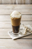 Cold coffee with ice cream Stock Photo