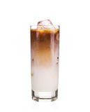 Cold coffee with ice Royalty Free Stock Photography