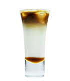 Cold coffee with ice Royalty Free Stock Images