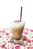 Cold coffee on table Royalty Free Stock Photography