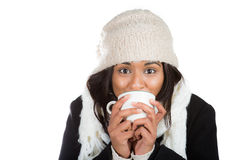 Cold coffee warm Royalty Free Stock Photography