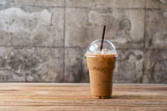 Cold Coffee On Wood Royalty Free Stock Image