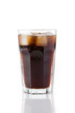 Cold cola with ice Stock Photo