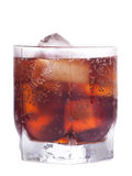 Cold cola with ice Royalty Free Stock Photography