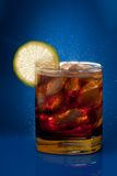 Cold cola with lemon Stock Photography