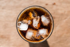 Cold cola most popular sparking water Stock Images