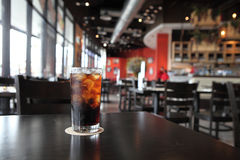 Cold Cola on wood background Royalty Free Stock Photo