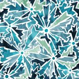 Cold color cracks seamless pattern Stock Images