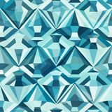 Cold color diamond seamless pattern Stock Image