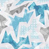 Cold color geometric seamless pattern. (eps 10 royalty free illustration