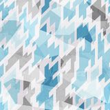 Cold color geometric seamless pattern. (eps 10 stock illustration