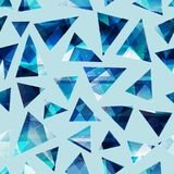 Cold color triangles seamless pattern. Eps 10 vector file Royalty Free Stock Photo