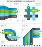 Cold Colors Abstract Infographics Royalty Free Stock Photo