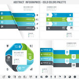 Cold Colors Abstract Infographics set 2. A Cold colored set for abstract overlapping infographics banners Royalty Free Stock Photo