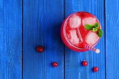 Cold cranberry juice Royalty Free Stock Image