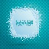 Cold crystals frame. Christma. stock illustration