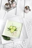 Cold cucumber soup Stock Images