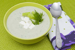 Cold Cucumber Soup Royalty Free Stock Images