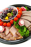 Cold cut platter Royalty Free Stock Photography