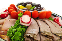 Cold cut platter Royalty Free Stock Photo